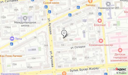 Ареал. Схема проезда в Алматы