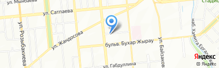 Анклав KZ на карте Алматы