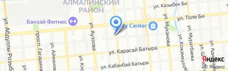 Алмасгео на карте Алматы