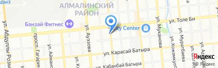 Астра на карте Алматы