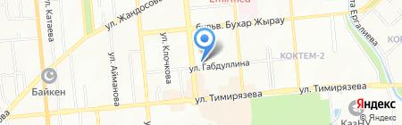 Темир на карте Алматы