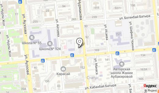 DPDS. Схема проезда в Алматы
