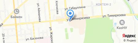 Продуктовый магазин на ул. Тимирязева на карте Алматы