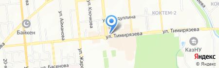 Тушпара на карте Алматы
