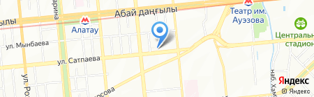 Нотариус Ерчеева А.А. на карте Алматы