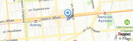 Мастерская по ремонту обуви на проспекте Абая на карте Алматы