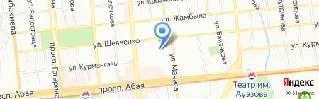 Fiore на карте Алматы