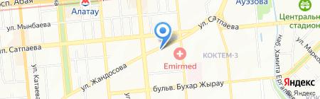 Алматыжилстрой на карте Алматы