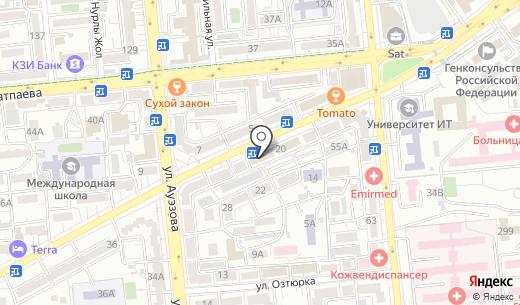 Лезарт. Схема проезда в Алматы
