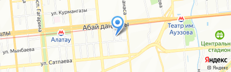 КАЗГИДЭК на карте Алматы