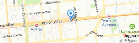 Нотариус Ибраева Н.А. на карте Алматы