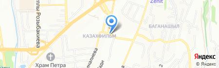 Цветочный магазин на ул. Казахфильм микрорайон на карте Алматы