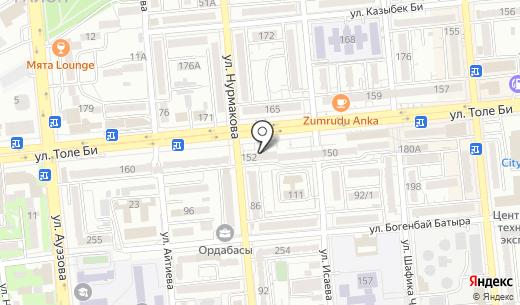 Олимп. Схема проезда в Алматы
