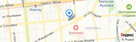 География на карте Алматы