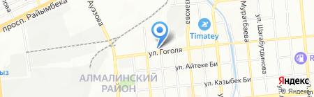 Авайя на карте Алматы