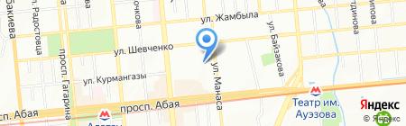Байдек на карте Алматы