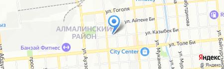 Акыл на карте Алматы