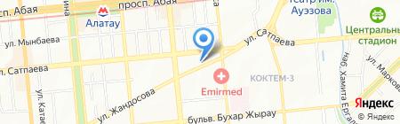 Анар Оптика на карте Алматы