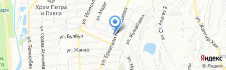 Резван на карте Алматы