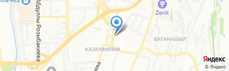 Алмалюкс на карте Алматы