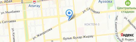 VIZIT-недвижимость на карте Алматы