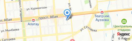 Мадикай на карте Алматы
