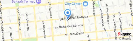 Автостоянка на ул. Нурмакова на карте Алматы