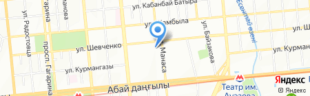 Колибри на карте Алматы