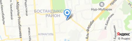 Заречное АО на карте Алматы