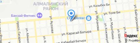 Нотариус Каирбеков Э.А. на карте Алматы