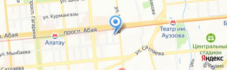 Maya на карте Алматы