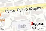 Схема проезда до компании BAYNAU в Алматы