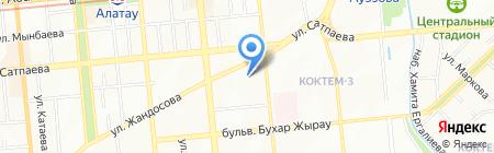 Балажан на карте Алматы