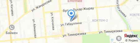 Общеобразовательная школа №69 на карте Алматы