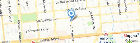 Чешский двор на карте Алматы