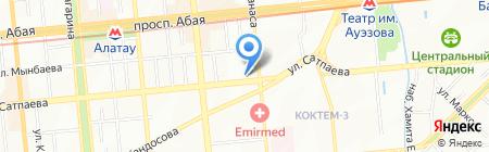 Нотариус Дабысова Г. на карте Алматы