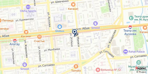 Эваз на карте Алматы