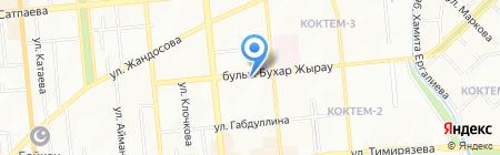 Адюма на карте Алматы