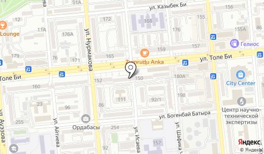 OTTO. Схема проезда в Алматы