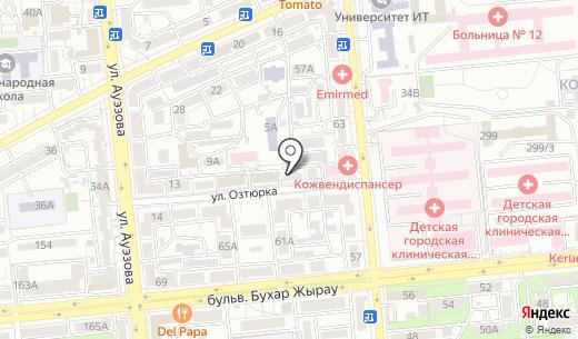 Арт-Лайф К. Схема проезда в Алматы
