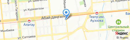 Иса на карте Алматы