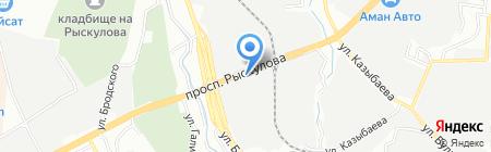 Алматы-Бетон на карте Алматы