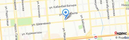 Нотариус Оразбаева А.А. на карте Алматы