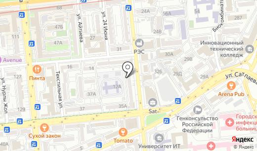 CUBETECH. Схема проезда в Алматы