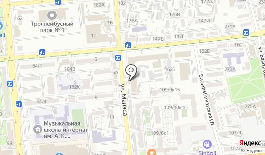 Кансонар. Схема проезда в Алматы