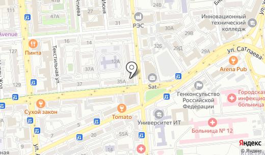 Медкор. Схема проезда в Алматы