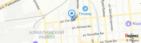 Жетысу продовольственный магазин на карте Алматы