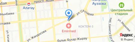 Оте дамди на карте Алматы