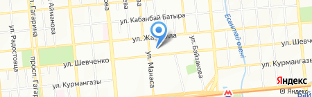Ясли-сад №6 на карте Алматы