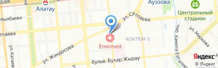 На Востоке на карте Алматы